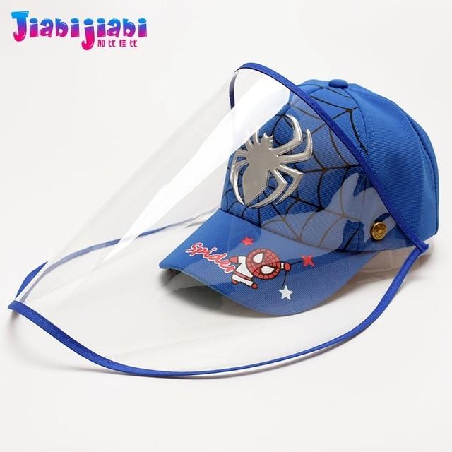 Scherza il Cappello Maschera Del Bambino del Ragazzo di Protezione Anti-Virus Sputare Viso Scudo Maschera Moda Protetor Viso Visiera Di Plastica Cap 1-3 vecchio 4