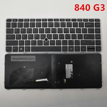 (95 nowy) podświetlenie do laptopa klawiatura do HP Elitebook 840 G3 745 G3 oryginalne dla HP 840 G3 745 G3 klawiatura notebooka wersja srebrna tanie i dobre opinie GIAUSA Hp compaq US Standardowy