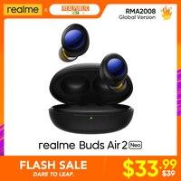 Realme Buds-auriculares TWS Air 2 Neo, originales, ANC, 28 horas de reproducción, superbajo, 88ms, latencia, inalámbricos, carga rápida