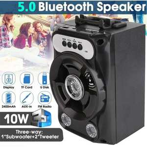 Acekool Bluetooth Speaker Subwoofer Music-Player Computer-R60 Portable Wireless Square