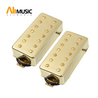ALLMusic 7 String Guitar Humbucker Pickup Dual in Line slotted Screw for Electric Guitar Gold