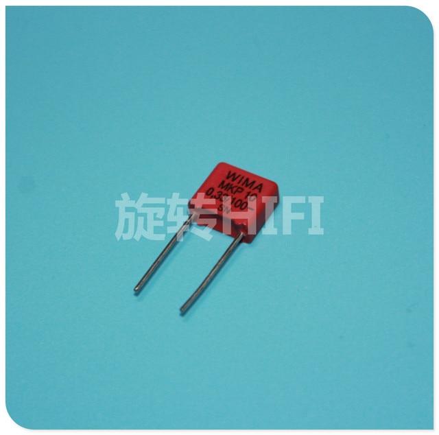 10 pces vermelho wima mkp10 0.33uf 100v p7.5mm original novo MKP 10 334/100 v áudio 330nf filme 334 pcm7.5 venda quente 0.33 uf/100 v