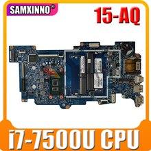 Для HP X360 M6-AQ 15-AQ материнская плата портативного компьютера с SR2ZY i7-7500u Процессор 858871-601 858871-001 аккумулятор большой емкости 448.07N07.002N 100% тестирова...