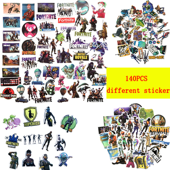 140pcs Different Fortnites Sticker Mix Stickers Car Styling Bike Motorcycle Phone Laptop Travel Luggage Fortress Night Sticker 1