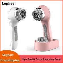 Brosse électrique de nettoyage du visage Ultra sonique, Machine nettoyante