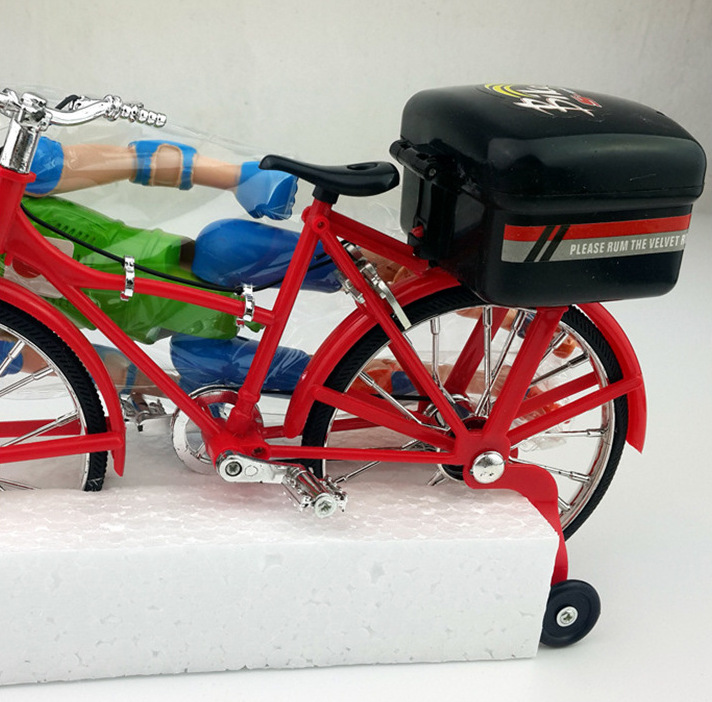 Electric Doll Cycling Electric Figure Cycling Children Music Glowing Toy Stall Supply Of Goods