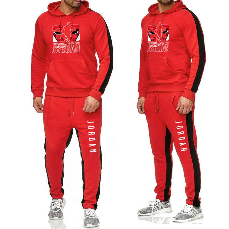 Nieuwe Trainingspak Rits Hoodie Vest + Joggingbroeken Brand Hooded Mannen Casual Katoen Herfst/Winter Warm Workout Sweatshirts Sportkleding