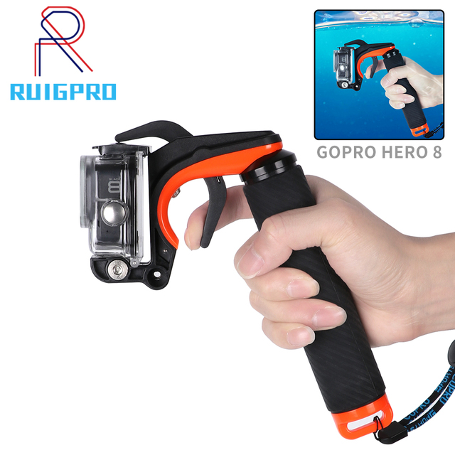 Shutter Trigger Diving Buoyancy Stick Floating Hand Grip For GoPro Hero 8 hand grip Black shutter control shooting bracket