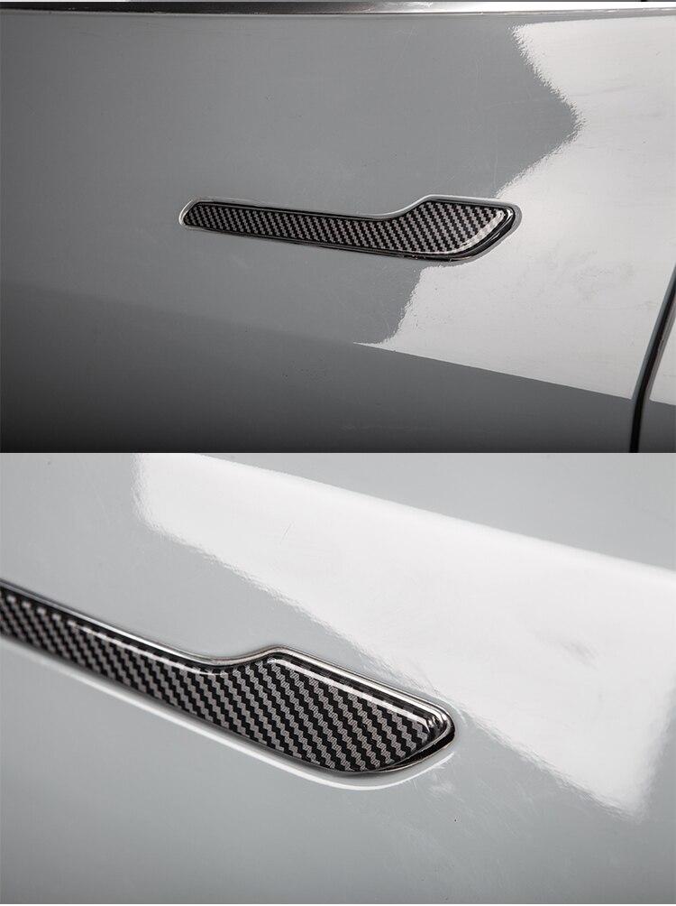 fibra carbono adesivo modely acessórios model3 modelo y três 2020
