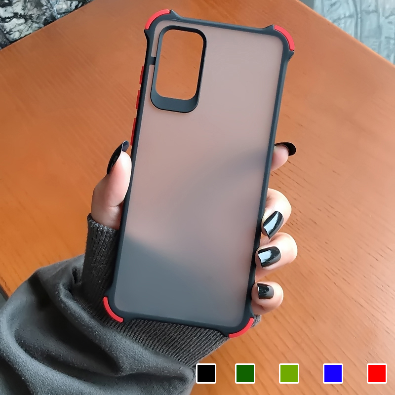 Shockproof Case For Samsung Galaxy S20 S10 S9 S8 Plus Note 10 Matte Transparent Hard Case For Samsung A71 A51 A10 A20 A30 A50 A9