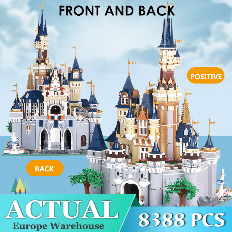 Mould King Friends Girl The MOC <font><b>13132</b></font> Princess Disneys Castle Model Building Blocks Bricks with 71040 Kids Toys Gifts image