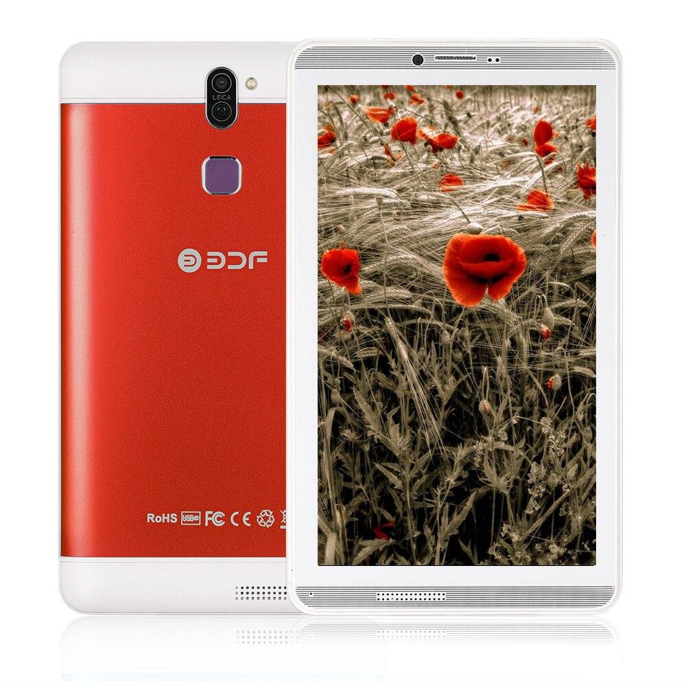 BDF New 7 Inch Quad Core Tablet Pc 3G Phone Call Android 6.0 Tablets  WiFi Bluetooth FM Dual Camera Dual SIM Card Phone