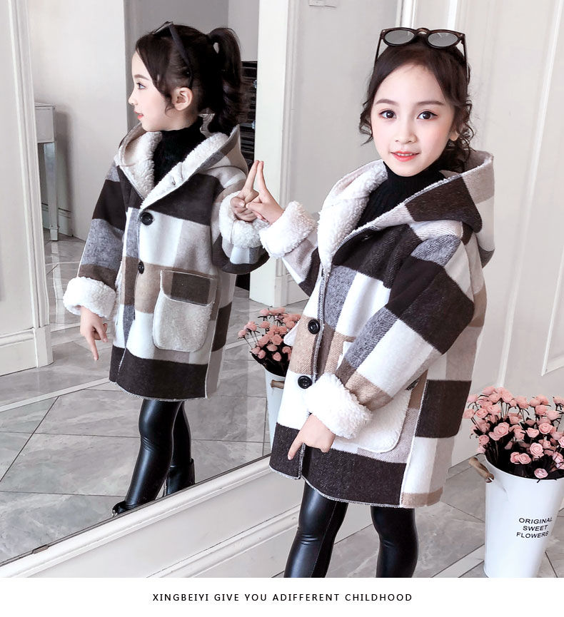 com capuz casaco de lã quente alta qualidade