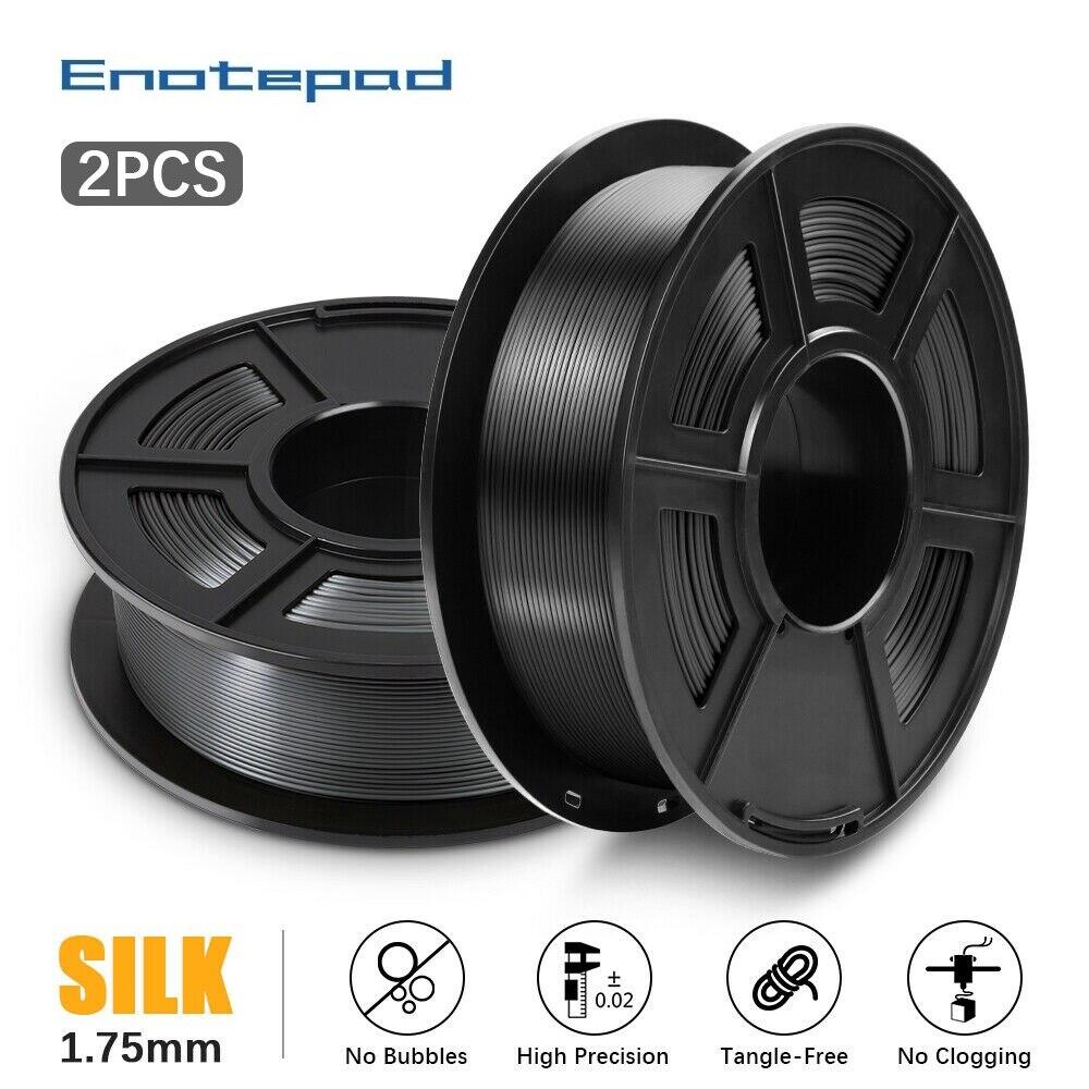 Enotepad جديد 1 كجم 1.75 مللي متر PLA خيوط الحرير طابعة ثلاثية الأبعاد خيوط فراغ التعبئة والتغليف في الخارج المستودعات