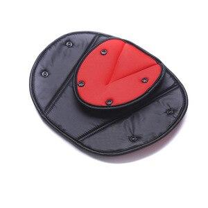 Image 5 - רכב כיסוי חגורת בטיחות בטיחות תינוק ילד הגנת חסון מתכוונן משולש בטיחות חגורת בטיחות כרית קליפים רכב סטיילינג רכב אבזר