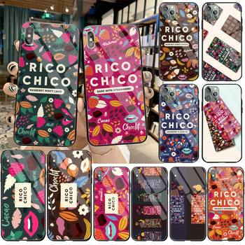 Sweet chocolate Rico Chico black Phone Case Cover Hull Tempered Glass For iPhone 11 Pro XR XS MAX 8 X 7 6S 6 Plus SE 2020 case image