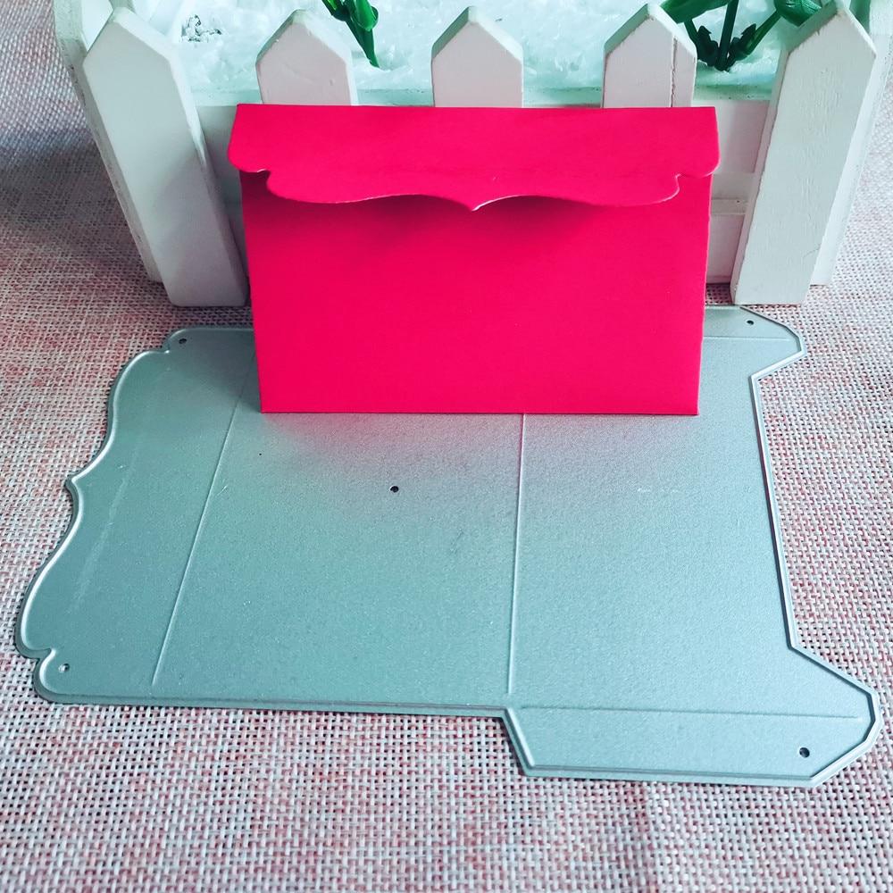 Pocket Bag Envelope Metal Cutting Die Stencil Template For DIY Embossing Paper Photo Album Gift Card Making Scrapbooking Dies