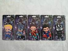2020 New 5Style Avenger Deadpool Keychains PVC Justice League Key Chains Action Figure Trinket Chaveiro Kids Party Gift Keyrings(China)