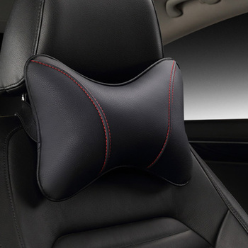 2020 Brand New Pu Leather Car Headrest Pillow Universal Comfortable Neck Pillows Fit For Kia Rio Quality Guarantee E1 image