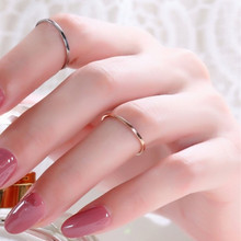 Fashion alloy finger ring punk short thin tail ring diameter gold and silver color simple ring wholesales female(China)