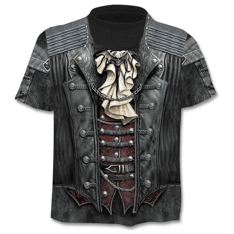 Skull T shirt Skeleton T-shirt gun Tshirt Gothic shirts Punk Tee vintage t shirts 3d t-shirt anime male styles dropshipping