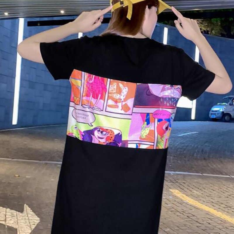#2132 хлопковые футболки с коротким рукавом для женщин; большие размеры; Футболка с принтом; женские уличные футболки; Летние футболки Harajuku
