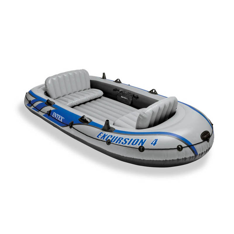 INTEX 68324 Drifter Inflatable Boat 4 People Rubber Rowing Fishing Boat Thickening Increase With Paddle And Air Pump