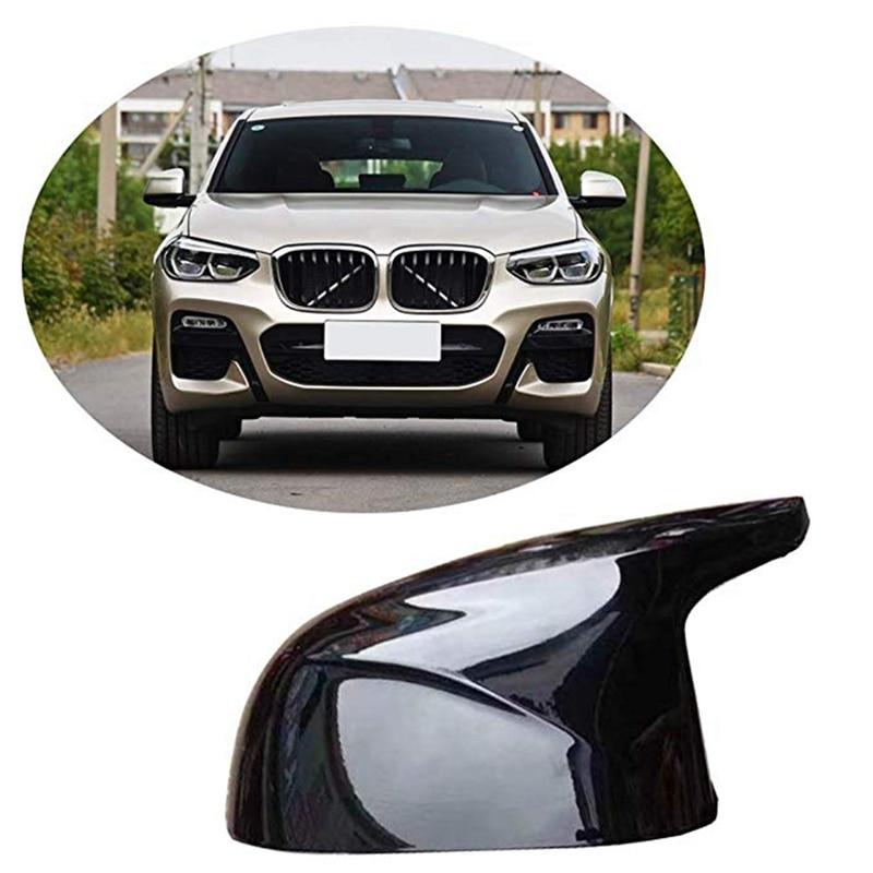 Para BMW nuevos modelos X3 G01 X4 G02 X5 G05 cubierta de espejo retrovisor lateral M Color negro brillante 2018 UP - 3