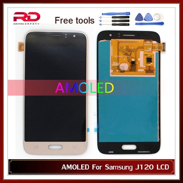 AMOLED J120F จอแสดงผล LCD สำหรับ Samsung Galaxy J1 2016 LCD J120 J120F J120M J120H J120DS J120G LCD Touch Screen Digitizer ASSEMBLY