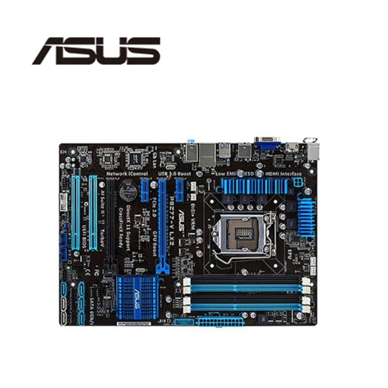 For ASUS P8Z77-V LX2 Computer Motherboard LGA 1155 DDR3 For Intel Z77 P8Z77 Desktop Mainboard  SATA II PCI-E X16 Used