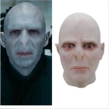 купить Lord Voldemort Mask Halloween Cosplay Masque Boss Latex Horrible Scary Masks Terrorizer Halloween Mask Prop Men дешево