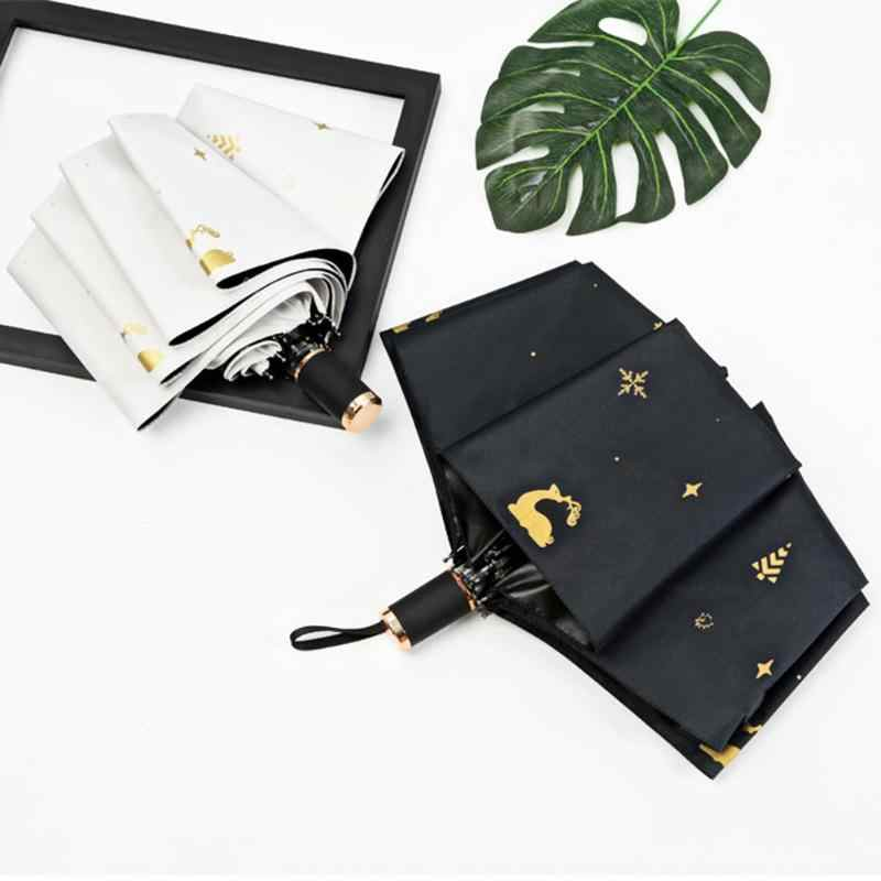 Paraguas plegable de doble uso sombrilla paraguas de viaje compacto Simple al aire libre sombrilla Parasol a prueba de viento