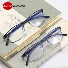 Computer Glasses Anti-Reflective-Reader Optical Mirror UVLAIK Blue Women Unisex Light