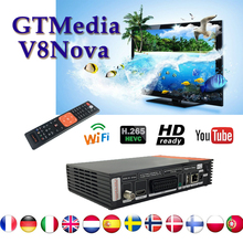 Gtmedia V8 nova Receptor Satellite receiver support Built-in WIFI DVB-S2 freesat v8 1year cccam for spain satellite finder genuine freesat v8 golden satellite receiver 3 in 1 combo dvb s2 dvb t2 dvb c new upgrade v8 pro support cccam youtube