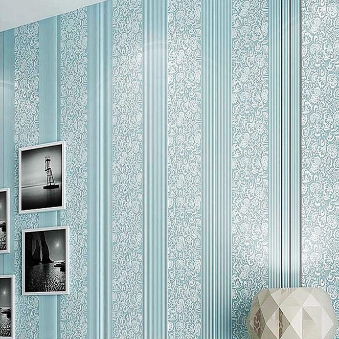 Modern Minimalist Non-woven Wallpaper Store Environmentally Friendly Guest Restaurant Bedroom Office TV Background Non-Self-Adhe