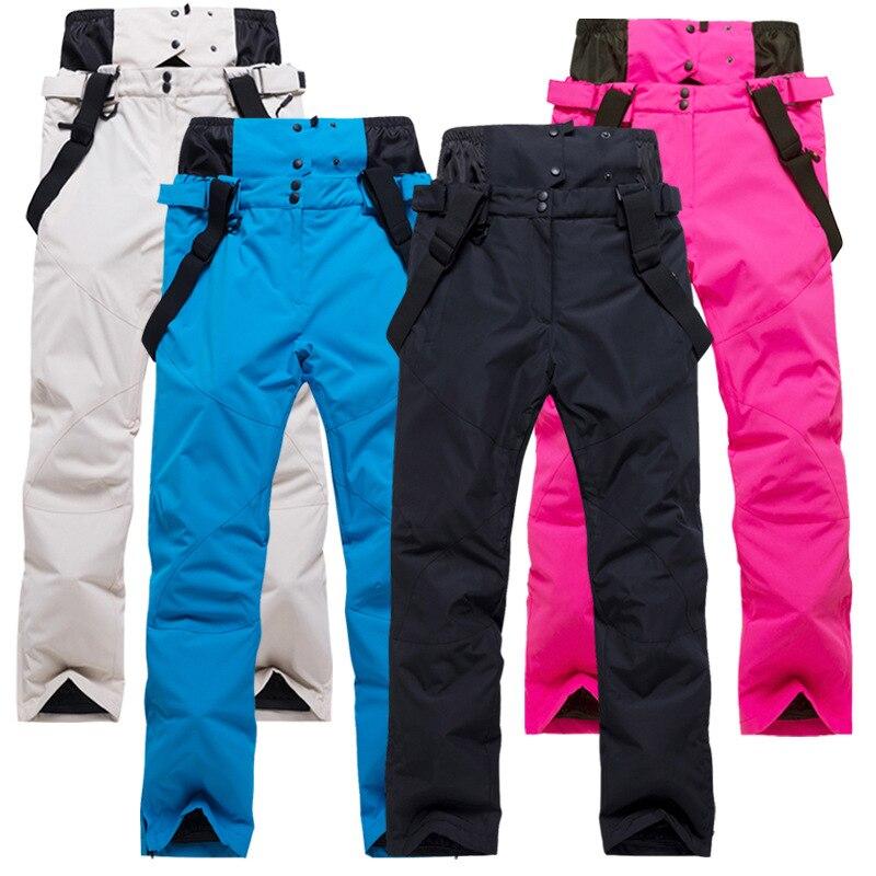 High Quality Ski Pants Men Women Windproof Waterproof Warm Couple Snow Trousers Winter Ski Snowboard Pants Waist Protection