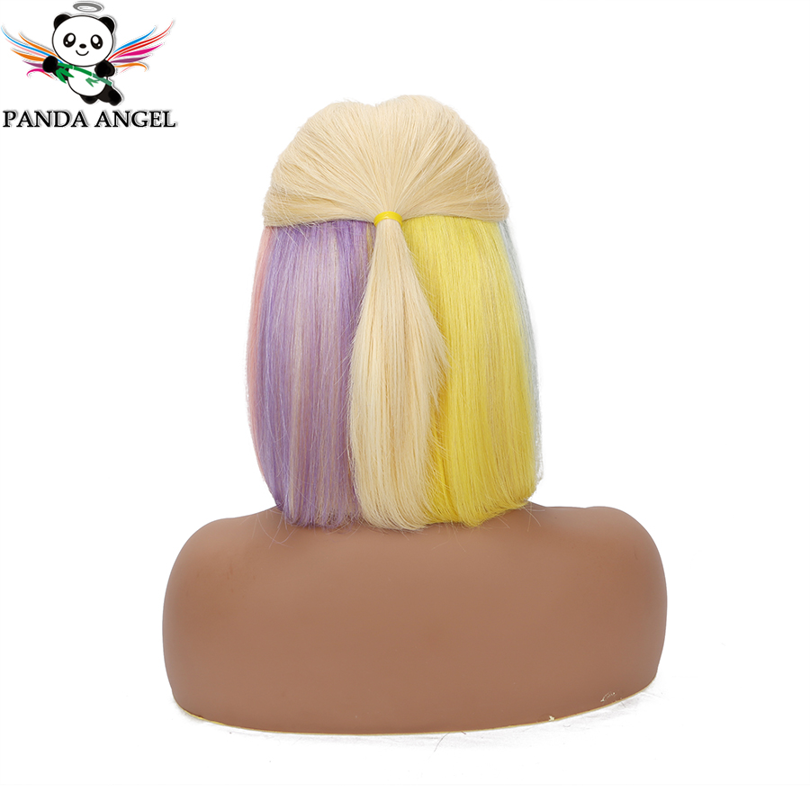 Panda Angel 13x4 Blonde Lace Frontal Wig Malaysia 613 Rainbow Short Bob Lace Frontal Human Hair Wig For Africa Market Remy Wig L
