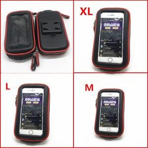 Image 4 - Sac étanche Support de téléphone pour Moto vélo vélo guidon Support Moto montage cartes fentes pour HONDA F5 CBR650F VFR1200