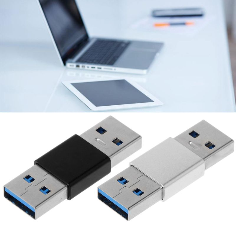 High Speed USB 3.0 Male To Male M-M Extender Adapter Gender Changer Connector Adapter Whosale & Dropship