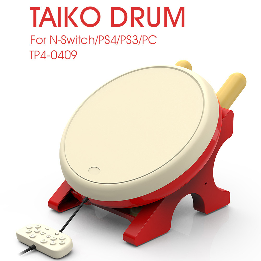 4 in 1 Taiko Drum Game Accessories Video Game Player Controller Game Assitant Console for Sony PS4 PS3 PC Nintendo Switch Joycon