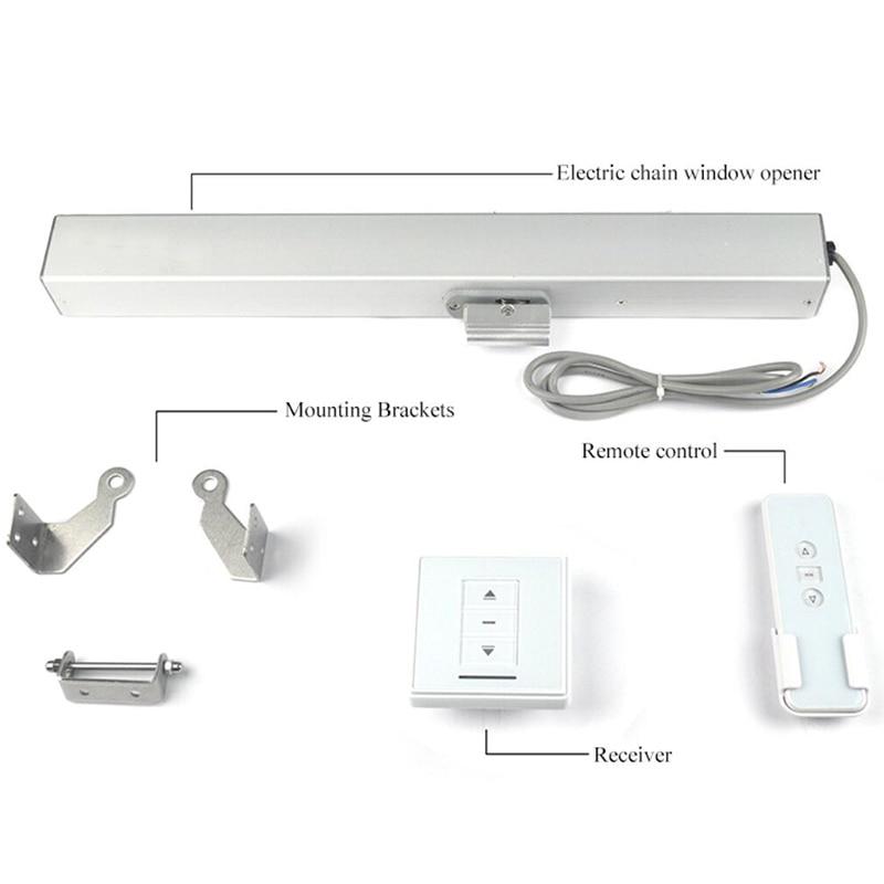 DC 24V 220V Single Chain Motorized Home Window Opener Automatic Close/open Wifi Phone Remote Skylight/villa/Greenhouse/Hospital