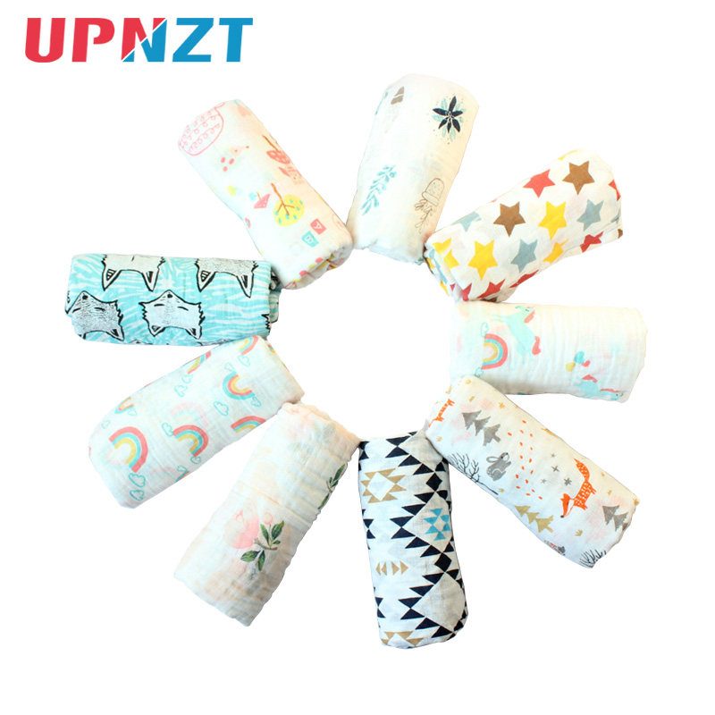 More New Pattern Newborn Baby Muslin Blankets Swaddles Bath Gauze Infant Wrap Sleepsack Stroller Cover Play Mat Swaddle Blanket