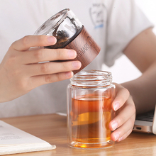 200ml Double Layer High Borosilicate Glass Tea Infuser Bottle Tumbler With Stainless Steel Filter Bag For Office Kid Women Smart