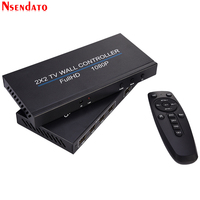 4 Channel Full HD 1080P TV Video Wall Controller 2x2 HDMI DVI VGA USB Video Processor 4K Video Wall for 4 TV Splicing Screen