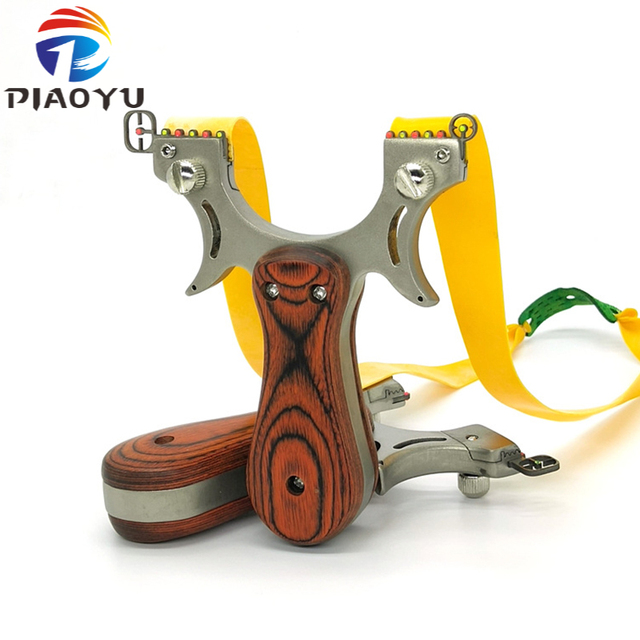 Professional Hunting Slingshot High Quality Stainless Steel Catapult with Flat Rubber Band Outdoor Shooting Game Sling Shot Set 1
