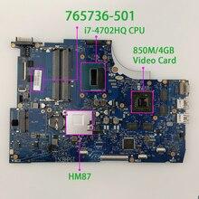 765736 501 765736 001 850メートル/4ギガバイトi7 4702HQ HM87 hp羨望15 Qシリーズ15T Q100ノートブックノートパソコンのマザーボードテスト
