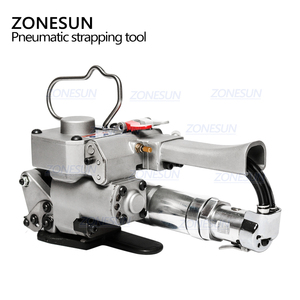 Image 2 - ZONESUN AQD 19 Portable Pneumatic PET Strapping Tool,banding Tool Binding Packing Machine For 12 19mm PP Plastic Strap