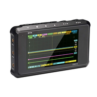 Handheld Digital Oscilloscope DSO213 4 Channels 100MS/S Pocket Sized Digital Storage Oscilloscope