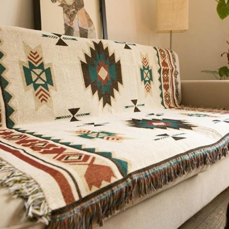 Geometric Throw Blanket Sofa Hanging Tapestry For Sofa Bed Plane Travel 2020 National Blanket