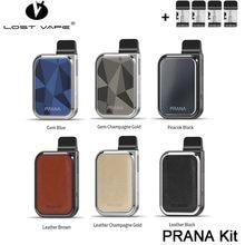 Lost Vape PRANA – Kit de vapoteur d'origine, batterie li-po 500mAh, cartouche 1ml, MTL e-cigs, pod